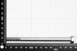M8X130 Hexagon Cap Screw Partially Threaded DIN 931, stainless steel AISI 316