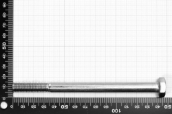 M10x140 Hexagon Cap Screw Partially Threaded DIN 931, stainless steel AISI 316