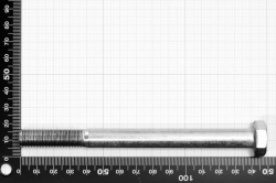 M12x140 Hexagon Cap Screw Partially Threaded DIN 931, stainless steel AISI 316