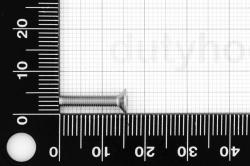 M3x16 Flat Socket Head Cap Screw DIN 7991, stainless steel AISI 316