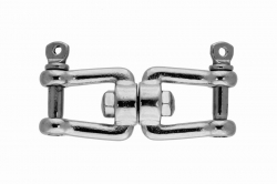 5x50 Jaw and jaw swivel, stainless steel AISI 316
