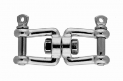 6x54 Jaw and jaw swivel, stainless steel AISI 316