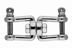 8x82 Jaw and jaw swivel, stainless steel AISI 316
