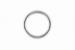 4x25 Ring Welded and Polished, stainless steel AISI 316