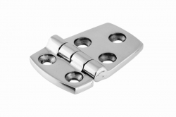 40x37/20 Hinge, polished, stainless steel AISI 316