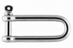 10x100 Long D-shackle, stainless steel AISI 316