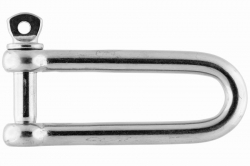 12x124 Long D-shackle, stainless steel AISI 316
