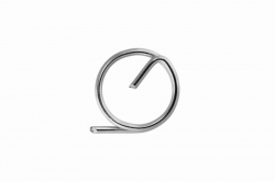 1.0 Ring pin, stainless steel AISI 316