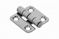 40x19 Hinge, polished, stainless steel AISI 304