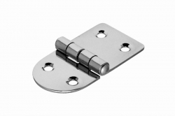 38x35 Hinge, polished, stainless steel AISI 304