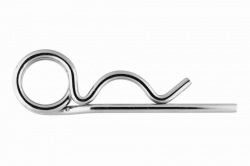 6.3 Spring Cotter Pin DIN 11024, double loop, stainless steel AISI 316