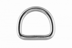 6x30 D-Ring, welded and polished, stainless steel AISI 316