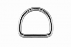 5x30 D-Ring, welded and polished, stainless steel AISI 316