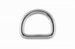 5x25 D-Ring, welded and polished, stainless steel AISI 316
