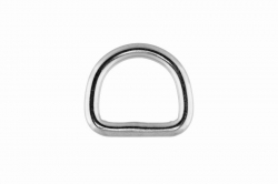 4x20 D-Ring, welded and polished, stainless steel AISI 316