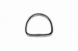 3x20 D-Ring, welded and polished, stainless steel AISI 316