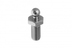 Tenax lower part with M5x10 bolt, stainless steel AISI 303