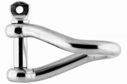 12x97 Twisted Shackle, stainless steel AISI 316