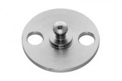 Tenax lower part with screwable round plate, stainless steel AISI 304