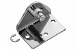 Bent Bracket, reverse attachment point for gas spring eyelet, polished...