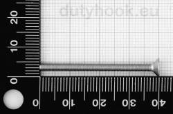 M3x40 Flat Socket Head Cap Screw DIN 7991, stainless steel AISI 316