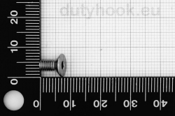 M4x8 Flat Socket Head Cap Screw DIN 7991, stainless steel AISI 316