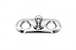Tenax lower part with screwable 27x11 mm plate, nickel finish brass