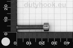 M4x22 Socket Head Cap Screw, DIN 912, stainless steel AISI 316