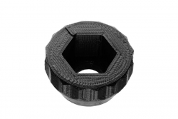 Dutyhook 3D Printed Knob for M10 Nut, black plastic