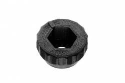 Dutyhook 3D Printed Knob for M8 Nut, black plastic