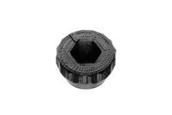 Dutyhook 3D Printed Knob for M6 Nut, black plastic