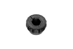 Dutyhook 3D Printed Knob for M4 Nut, black plastic