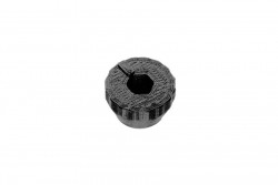 Dutyhook 3D Printed Knob for M3 Nut, black plastic