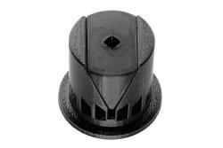 Dutyhook 3D Printed 20 - 40 mm Wedge Dowel, black plastic