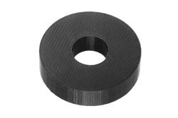 Dutyhook 3D Printed M14 Spacer, black plastic