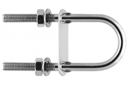 M10x130 U-bolt with Plate, stainless steel AISI 304