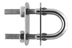M10x100 U-bolt with two plates, stainless steel AISI 316