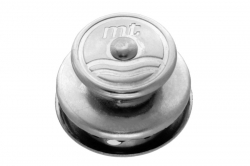 Tenax upper part for 3 mm material, nickel finish brass