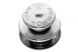 Tenax upper part for 5 mm material, nickel finish brass
