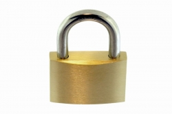 10x18 Padlock, brass body, hardened AISI 304 shackle and mechanism