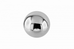 M6x20 Massive Ball, polished, with internal thread, stainless steel AISI 304