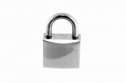 4.8x17 Marine Padlock, nickle-plated brass body, shackle AISI 316
