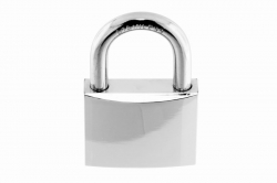 7.9x27.9 Marine Padlock, nickle-plated brass body, shackle AISI 316