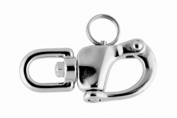 6x70 Quick Release Swivel Snap Shackle, stainless steel AISI 316