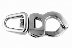 130x52 Trigger Snap Shackle with Swivel Eye, stainless steel AISI 316