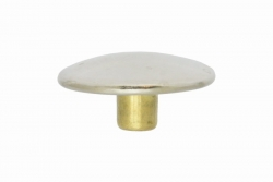 Durable Dot Cap 4.4 mm, nickel finish brass