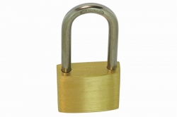 6x45 Padlock, brass body, hardened AISI 304 shackle and mechanism