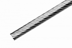 3 mm 1x19 Wire Rope, stainless steel AISI 316, sold in 1m steps