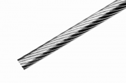 2 mm 1x19 Wire Rope, stainless steel AISI 316, sold in 1m steps