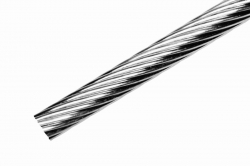 4 mm 1x19 Wire Rope, stainless steel AISI 316, sold in 1m steps